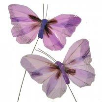 Setje Lila-roze Vlinders, 9cm