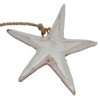 Houten witte ster, 6cm