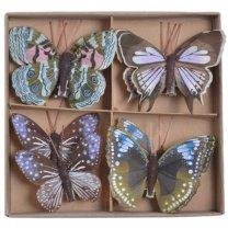 20% korting! LAATSTE STUKS! Set gekleurde vlinders op clip, 8 stuks