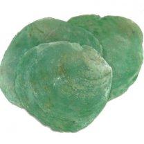 Capiz shell zeegroen, 3 stuks, 8cm