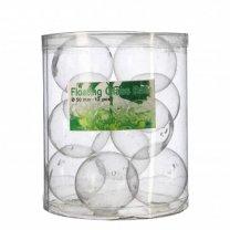 Glazen drijvers, glazen ballen, 12 stuks, 5cm