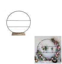 Staande ring op houten voet met spijlen, Medium, 40 x 42cm
