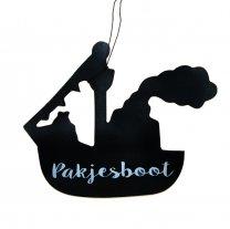 Houten hanger, Pakjesboot, 9cm