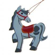 Handgemaakt hanger van het paard van Sinterklaas, 8cm