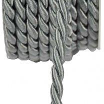Zijdeband, zilver per meter, 4mm