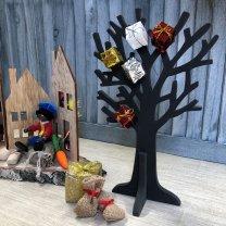 Houten boompje Zwart, 25cm