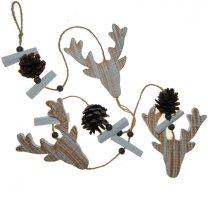 Herfst hanger, elanden hoofd en dennenappels, 100cm