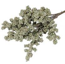 Bundel met foam besjes olijfgroen, 25cm