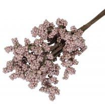 Bundel met foam besjes oud-roze , 25cm
