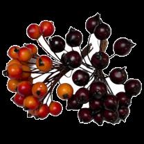 Bordeaux besjes en oranje besjes 48 stuks