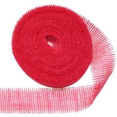 Jute band rood, 6cm, Laatste 8 meter!