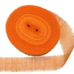 jute band oranje, 5 meter,6cm