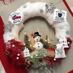 Nieuwe Winterse krans; Kinder Kerst Krans, 30cm