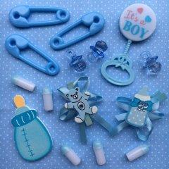 It's a boy, gemengd zakje babyshower decoratie, 15stuks
