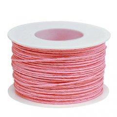 LAATSTE STUKS! 50% KORTING! Papierdraad, binddraad Roze, 2mm, prijs per 10 meter