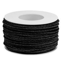 papierdraad zwart, 2mm, prijs per meter
