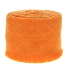 Vilt 15cmx5mtr oranje