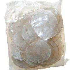 Schelpen capiz a 500 gram, gemiddelde maat 8 - 12cm