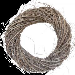 Wild willow krans white-wash, 40cm