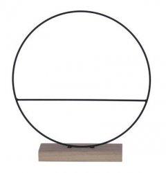 Staande ring op houten voet met enkele spijl, 30cm