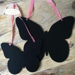 Chalkboard vlinder, 30 cm