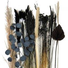 Droogbloemen mix Zwart, 65cm