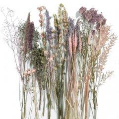 Droogbloemen mix Finochio en roze tinten
