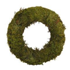 krans moskrans platmos over strokrans 20 cm groen