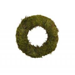 krans platmos over strokrans 15 cm groen