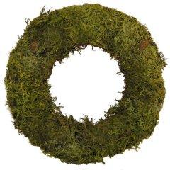 krans platmos over strokrans 30 cm groen