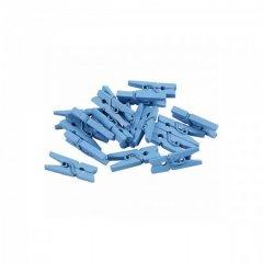 Houten wasknijpertjes lichtblauw, 50 stuks