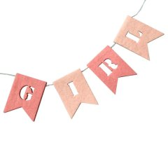 Roze vilten 'Girl' slinger