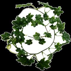 Lianen met fijn groen kunstblad, 3 stuks, 65cm