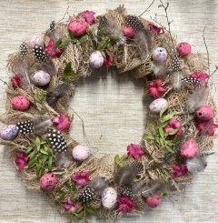 Sfeervolle lente roze, paars of geel, 35cm