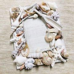 UITVERKOCHT; Pakket fotolijst met schelpen