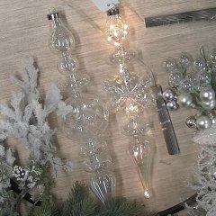 Glazen ornament SNEEUWKRISTAL met verlichting,