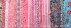 Stoffen letters met print voor op de vlaggenlijn, 3-7cm