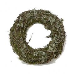 Larixkrans met mos en takjes krans, 30cm