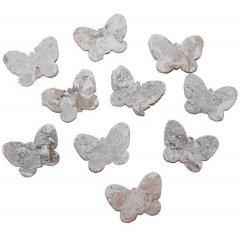 Witte vlinders van schors, 3cm