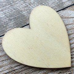 Houten hartje, rond model, 7cm, 2mm dun
