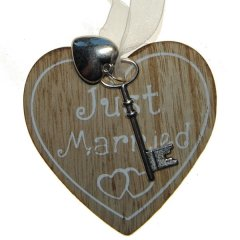 Just Married hart, 9cm