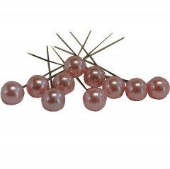 Pushpin, Spelden met roze parel, 10 stuks, 6mm