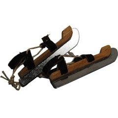 Handgemaakte houten schaatsjes, Friese doorlopers 7cm