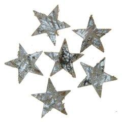 Sterren van schors, zilver, 4cm