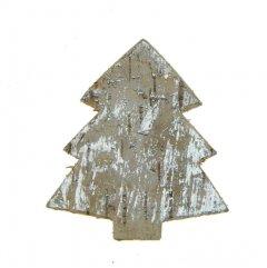 Kerstboom van schors,  white-wash, 6cm