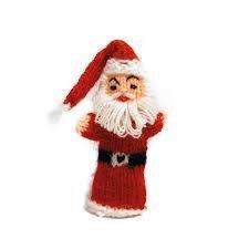 Vingerpopje Kerstman, 9cm