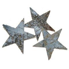 Sterren van schors, zilver, 6cm