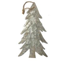 LAATSTE! Kerstboom plat hangend groot, 24 cm