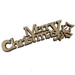Merry Christmas, houten tekst, 92mm
