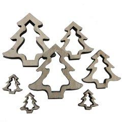 Houten open bomen, 7 stuks